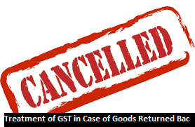 GST On Goods Returned Back