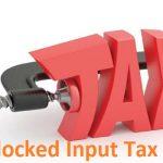 Haryana Block Input tax Credit GST Guidelines