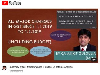 {Video} All Major Changes in GST - Budget 2019 (W.e.f 1st February, 2019)